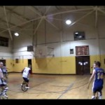 Unicycle Basketball Exhibition Game